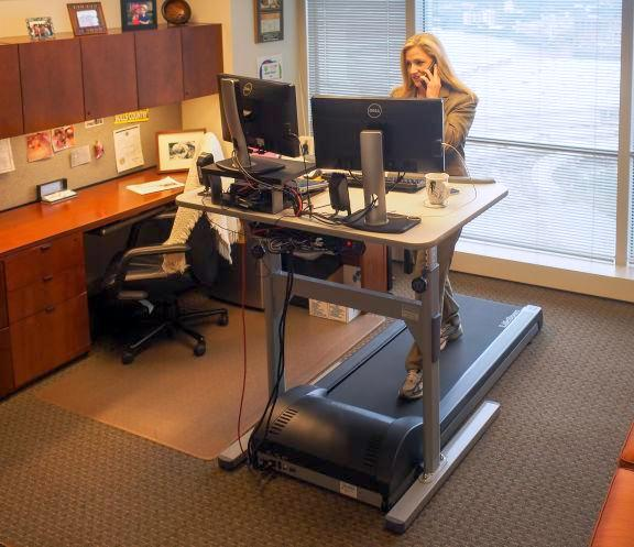 law firm treadmill desk